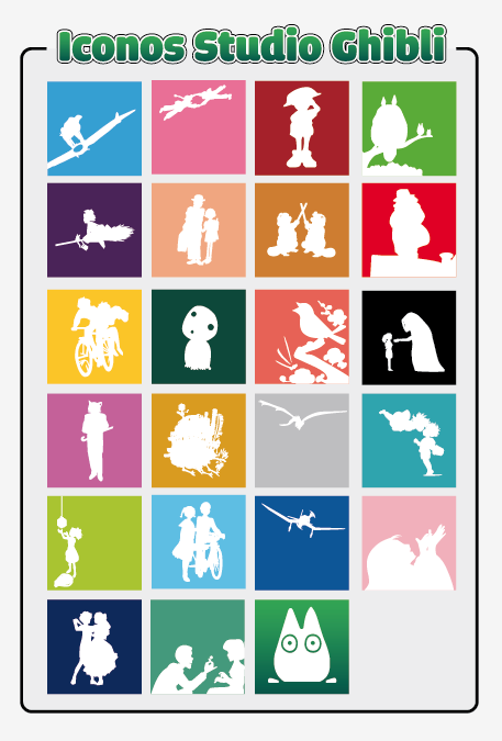 Iconos Studio Ghibli