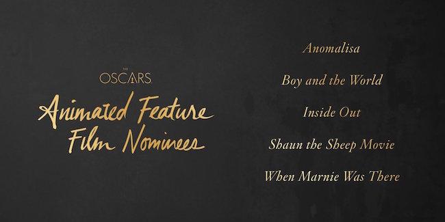 Lista de las nominadas a Mejor película de animación